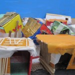 shanty town made with pupils